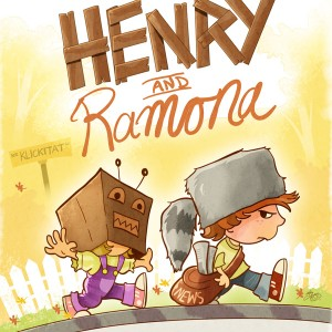 "Illustration artwork for the play, ""Henry and Ramona""."