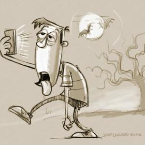 Halloween Smartphone Zombie Sketch