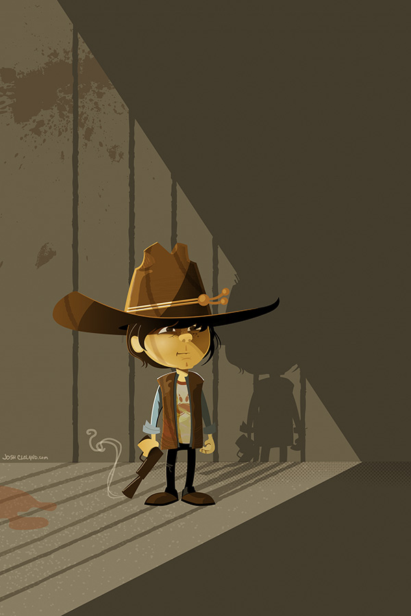Carl of The Walkin Dead