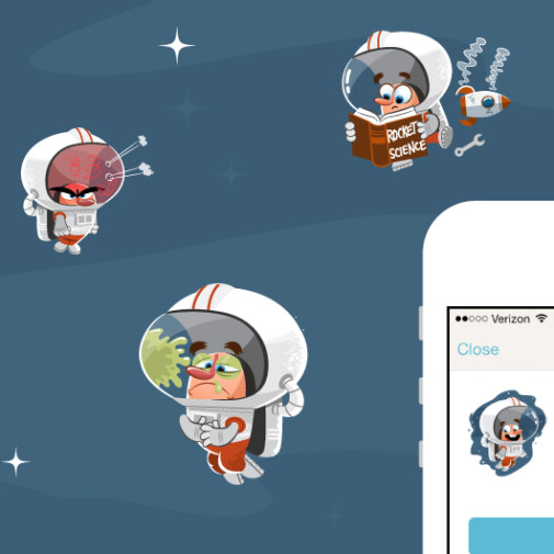 Couple App Astronaut Illustrations