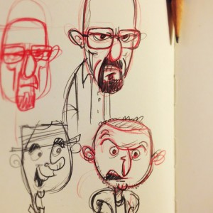 Walter White and Jesse Pinkman sketch