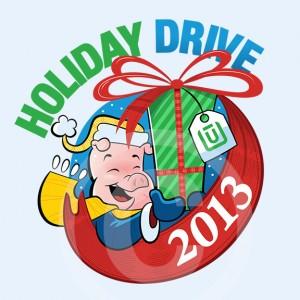 2013 Unitus Holiday Drive cartoon logo by Josh Cleland