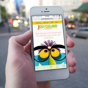 Josh Cleland website iPhone