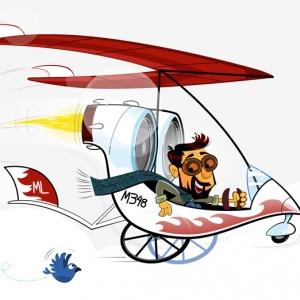 Dev on Wheels Header Illustration