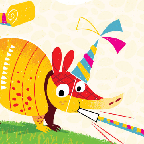 Armadillo Birthday Greeting Card