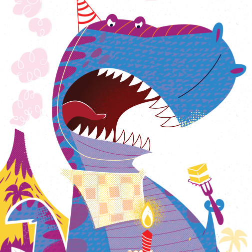 T-Rex birthday greeting card