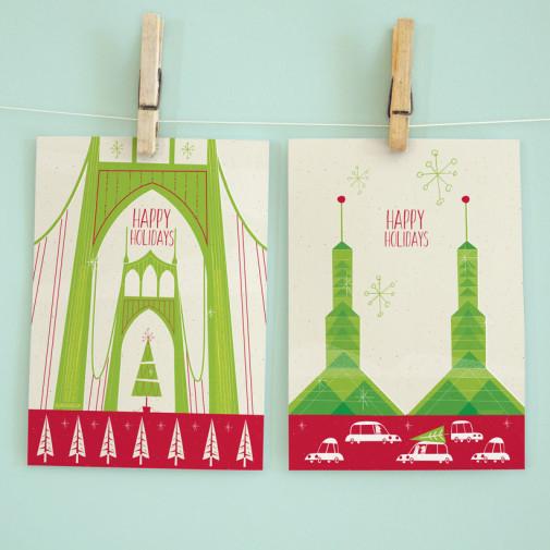 Portland Christmas Cards by Josh Cleland