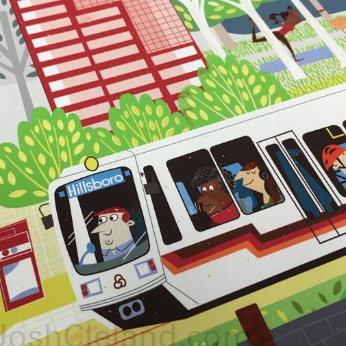 Portland Poster by Josh Cleland