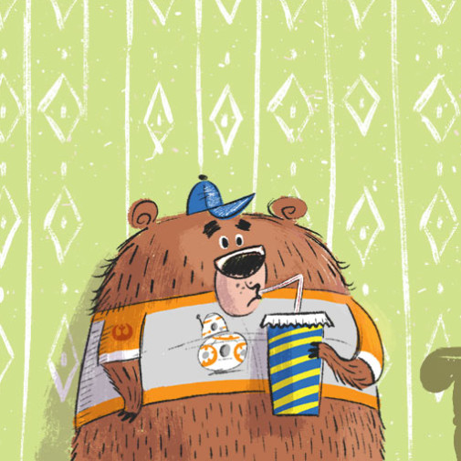 Baby Bear illustration by Josh Cleland