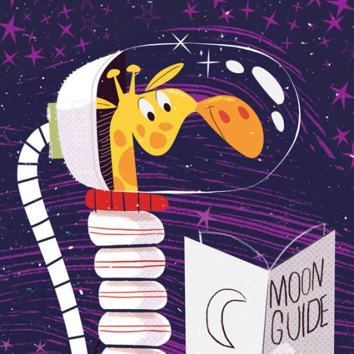 Giraffe astronaut by Josh Cleland