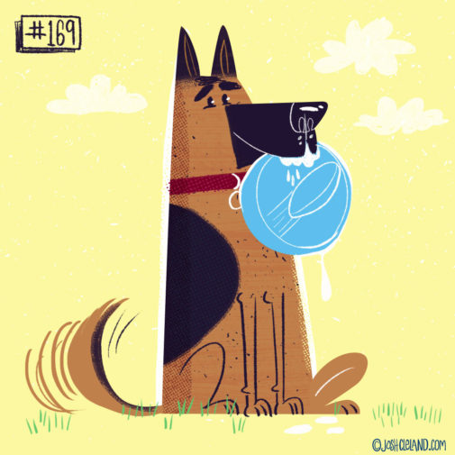 LAND of CLE by illustrator Josh Cleland german shepherd illustration